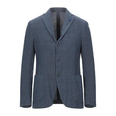 ラルディーニ LARDINI テーラードジャケット ダークブルー 48 コットン 69% / リネン 31% テーラードジャケット