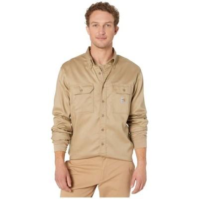 カーハート Carhartt メンズ シャツ トップス Flame-Resistant (FR) LW Twill Shirt Khaki