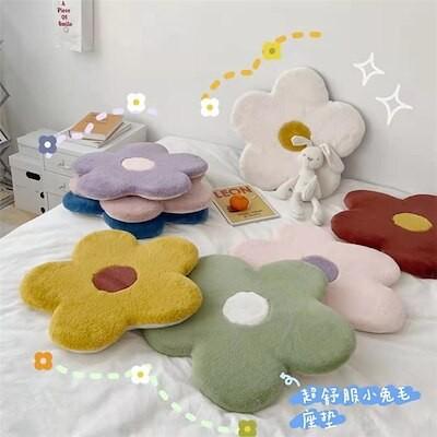 [座布団]韓国ins 可愛い少女心 花花 8color ウサギの绒 人気 とても気持ちいいです