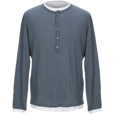 マジェスティック MAJESTIC FILATURES T シャツ 鉛色 S コットン 85% / カシミヤ 15% T シャツ