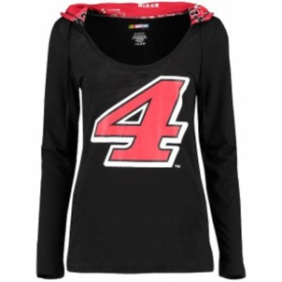 Concepts Sport コンセプト スポーツ スポーツ用品  Concepts Sport Kevin Harvick Womens Black Fusion Hooded Long Sleeve T-Shirt