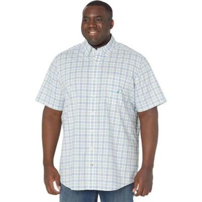 ノーティカ Nautica Big & Tall メンズ シャツ 大きいサイズ ワイシャツ トップス Big & Tall Classic Fit Plaid Oxford Shirt Ocean Greenery