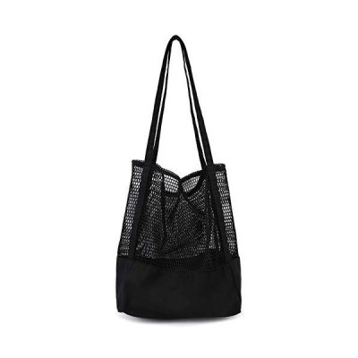 ビーチバッグ メッシュバッグ エコバッグ トートバッグ ショッピングバッグ ネットバッグ 大容量 折り畳み 買い物バッグ
