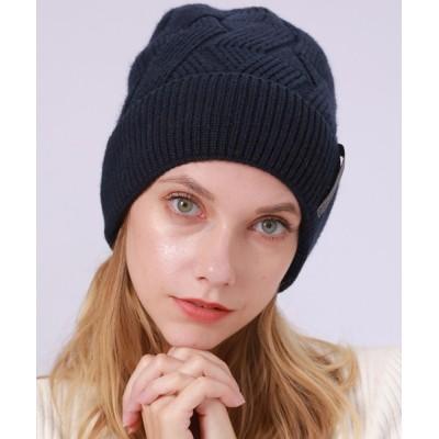 TeddyShop / レディース 裏起毛ゆったりめワッチニットキャップ WOMEN 帽子 > ニットキャップ/ビーニー