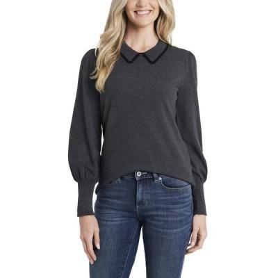 セセ レディース ニット・セーター アウター Puff Shoulder Collared Sweater