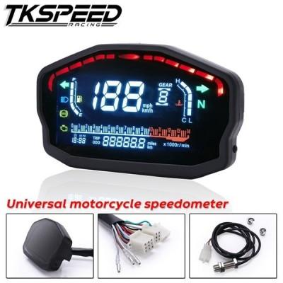 オートバイダイヤルLCDオートバイ走行距離計スピードメータースピードメーターセンサーなし