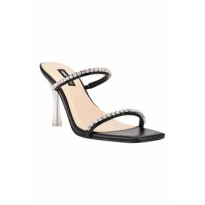 ナインウェスト レディース サンダル シューズ Fanfav Square Toe Jeweled Dress Sandals Black