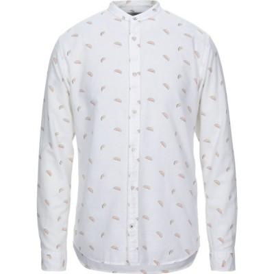 ジャック アンド ジョーンズ JACK & JONES PREMIUM メンズ シャツ トップス patterned shirt White