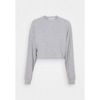 エブンアンドオッド パーカー・スウェットシャツ レディース アウター BASIC - Raw hem - Sweatshirt - mottled light grey