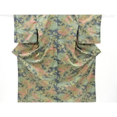 リサイクル 板垣に牡丹・菊・藤模様織り出し西陣お召着物