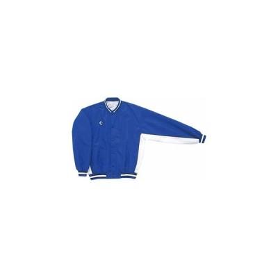 コンバース 男女兼用 ウォームアップジャケット(前ボタン・裾フライスタイプ)(ロイヤルブルー×ホワイト・サイズ:S) CONVERSE CON-CB182112S-2511-S 返品種別A