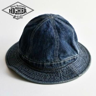帽子 ハット バケットハット セルビッチデニム パネルハット USEDWASH HIGHER ハイヤー メンズ レディース 日本製