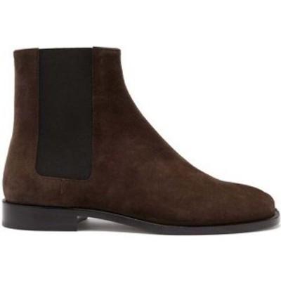 メゾン マルジェラ Maison Margiela メンズ ブーツ チェルシーブーツ シューズ・靴 Tabi split-toe suede Chelsea boots Brown