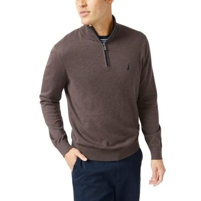 ナウティカ ニット&セーター アウター メンズ Men's Navtech Classic-Fit Quarter Zip Sweater Sable