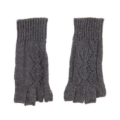 レディース ダイヤモンド デザイン Fingerless Glove - グレー OSFM(海外取寄せ品)