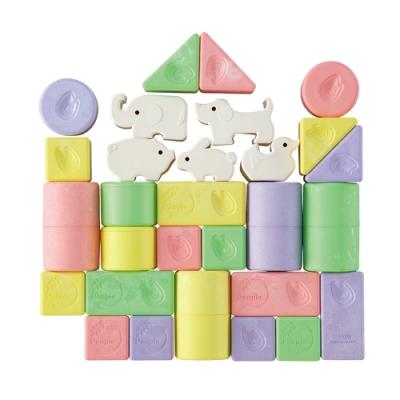 日本People 彩色米的動物積木組合(0m+)(米製品玩具系列/新生禮/滿月禮/咬舔玩具/安撫玩具)