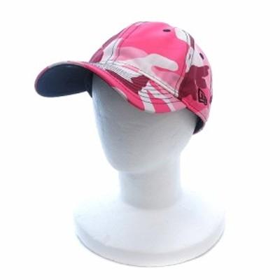 【中古】ニューエラ NEW ERA 帽子 キャップ 迷彩 カモフラ ピンク /ST レディース