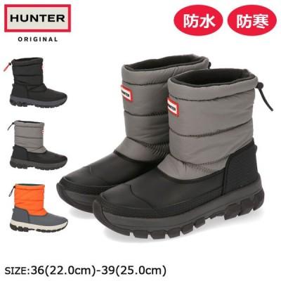 ハンター オリジナル インシュレーテッド ショート スノー ブーツ レディース ブラック グレー オレンジ 防水 防寒 長靴 雨 雪 秋 冬  WFS2106 20FW10