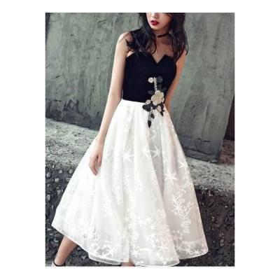結婚式ドレス お呼ばれ ドレス ワンピース 20代 30代 パーティードレス 結婚式 二次会 ワンピース 星柄 ハイウエスト バイカラー jm5396