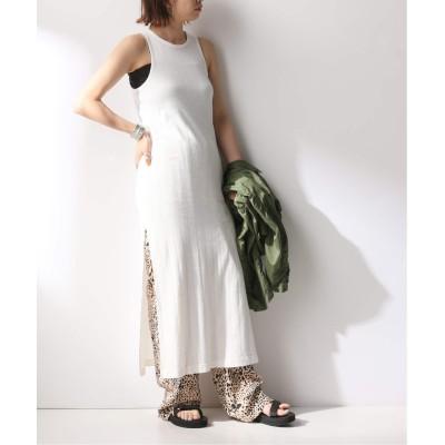 レディース フレームワーク 【WRYHT/ライト】ROUND-NECK RIBBED TANK DRESS ホワイト A フリー