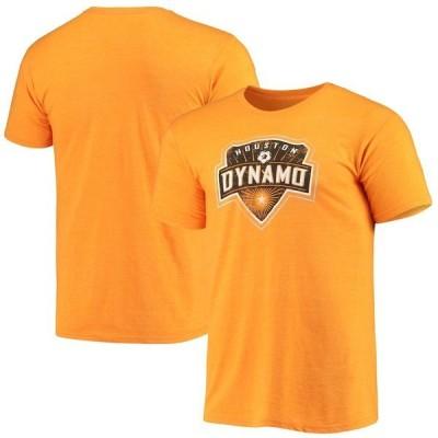 ファナティクス ブランデッド メンズ Tシャツ トップス Houston Dynamo FC Fanatics Branded Distressed Logo II Tri-Blend T-Shirt Orange