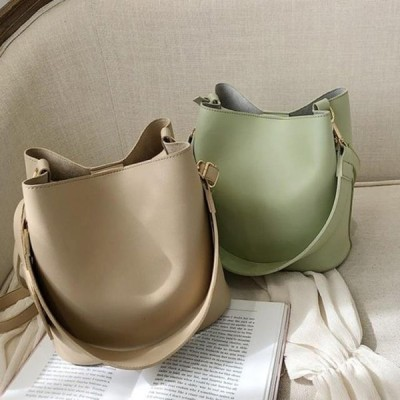 picknfit レディース ショルダーバッグ Daily Modern Classic Bucket Shoulder Bag