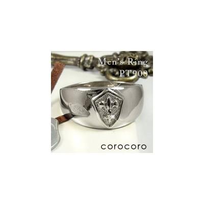 プラチナ リング 指輪 印台 メンズリング シンプル