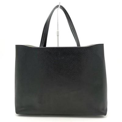 送料無料 パン Pan トートバッグ ショルダーバッグ 鞄 手提げ レザー 伊製 イタリア製 黒 ブラック系 レディース