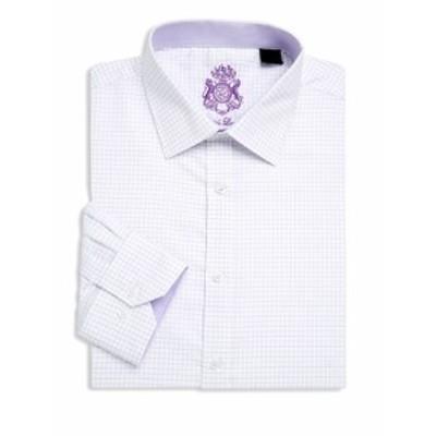 イングリッシュランドリー Men Clothing Windowpane Cotton Dress Shirt