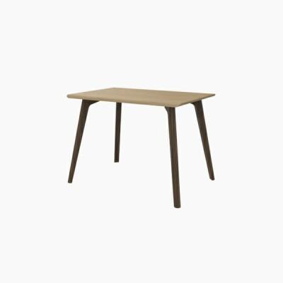 送料無料 ダイニングテーブル (W1000 天板:ピーチ 脚:ウォールナット) - CROSS