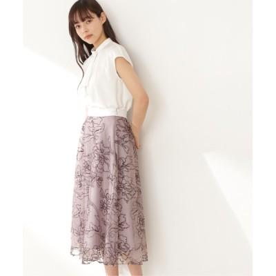 JILL by JILLSTUART / ◇ラインフローラルシシュウスカート WOMEN スカート > スカート