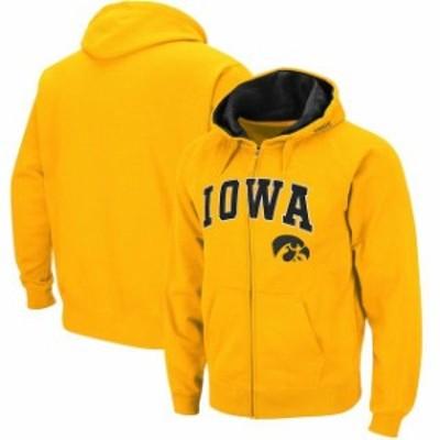 Stadium Athletic スタジアム アスレティック スポーツ用品  Iowa Hawkeyes Gold Arch & Logo Tackle Twill Full-Zip