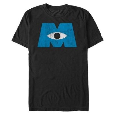 ディズニー Tシャツ トップス メンズ Pixar Men's Monsters Inc. Eye Logo, Short Sleeve T-Shirt Black