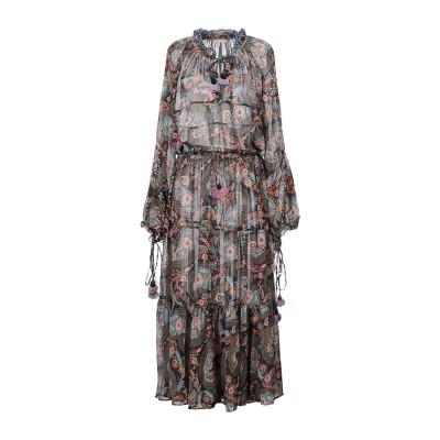 アンジュナ ANJUNA ロングワンピース&ドレス ブラック XS ポリエステル 100% ロングワンピース&ドレス