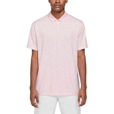 ナイキ メンズ シャツ トップス Nike Men's Dri-FIT Vapor Printed Golf Polo Pink Foam