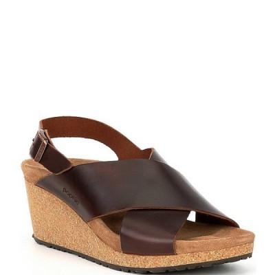 ビルケンシュトック レディース サンダル シューズ Papillio by Birkenstock Samira Leather Cross Band Wedge Sandals