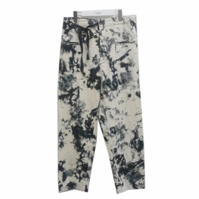 ESSY TO WEAR 20SS RROOMM取り扱い 総柄パンツ ブラック×ホワイト サイズ:46 (茶屋町店) 200730
