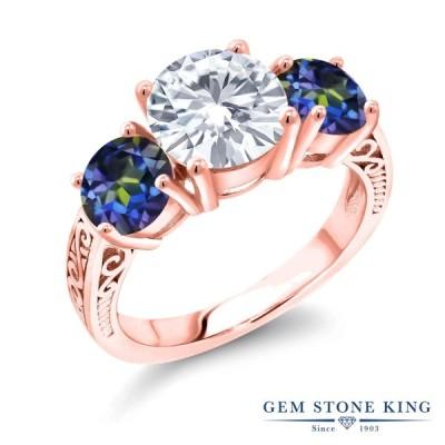 指輪 レディース リング モアサナイト Forever Classic ピンクゴールド 加工 ブランド