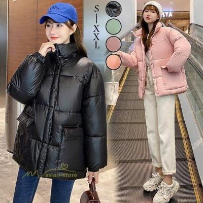 ダウンジャケット レディース ダウンコート 立ち襟 暖かい ショート丈 軽量 ファッション 冬アウター コート 無地 防寒 スリム ブルゾン 冬 カジュアル お出かけ