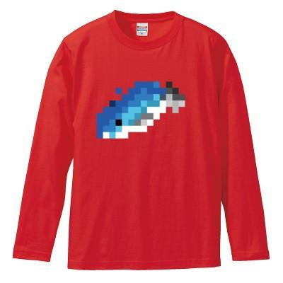まぐろ ロングスリーブTシャツ(カラー : レッド, サイズ : XL)