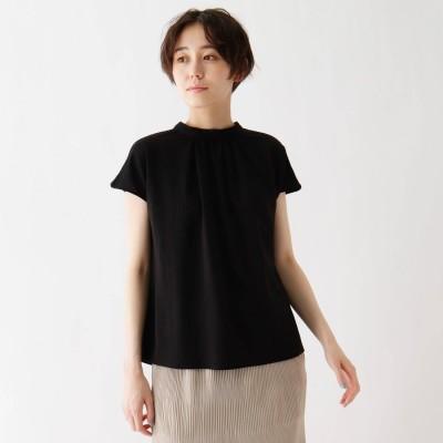 シューラルー SHOO-LA-RUE ひんやりスタンドカラーTシャツ (ブラック)