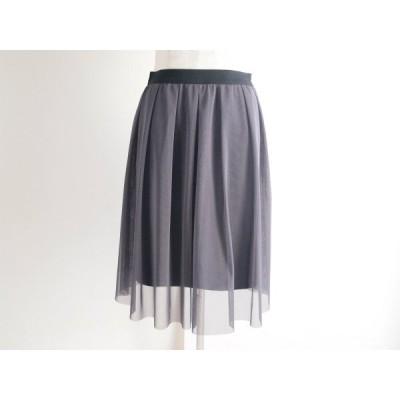 #anc レジーナロマンティコ ReginaRomantico スカート チュール 34 小さいサイズ グレー シースルー レディース [638886]