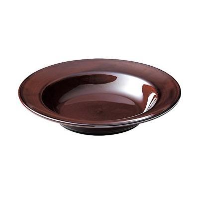 和(なごみ) エクシブ 24cm スープ皿 アメ 24.6cm×4.6cm 00522804