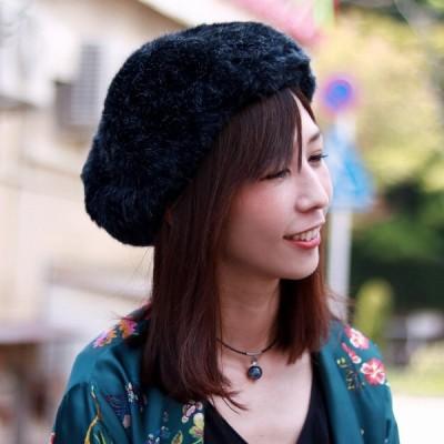 帽子 サイズ調節可 メンズ メゾン バース 秋冬 ファーベレー帽 MAISON Birth ベレー帽 レディース ファー 大人 黒 ブラック MIX