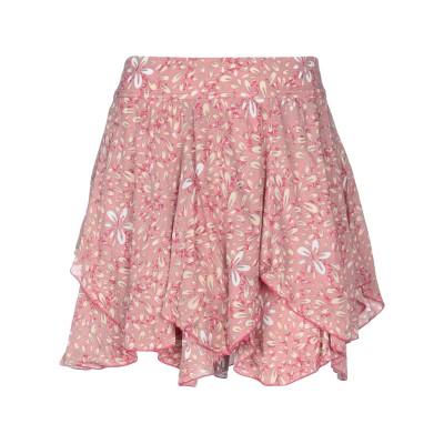 POUPETTE ST BARTH ミニスカート パステルピンク XS レーヨン 100% ミニスカート