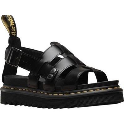 ドクターマーチン Dr. Martens メンズ サンダル フィッシャーマンサンダル シューズ・靴 Terry Fisherman Sandal Black Brando Full Grain Waxy Leather