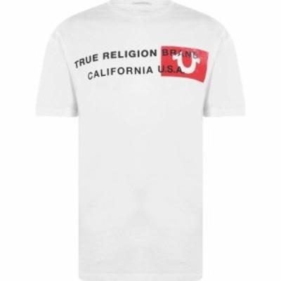 トゥルー レリジョン True Religion メンズ Tシャツ トップス T Shirt White