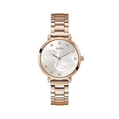 GUESS Women's Quartz Watch with Stainless Steel Strap, Silver, 16 (Model: GW0242L3)_並行輸入品