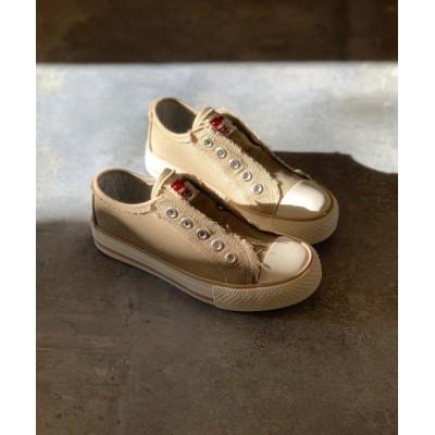 Shoes in Closet -シュークロ- / 【ママとおそろい/リンクコーデ】ダメージデニム♪キャンバススリッポンスニーカー 4903K KIDS シューズ > スニーカー
