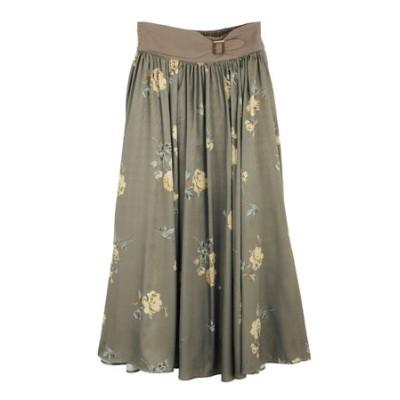 ローズ柄ロングスカート